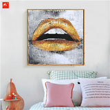Modern Fashion Pop Cool Street Lip Mouth Painting on Canvas Print Wall Art For Office LivingRoom Teenage Bedroom Wall Decoration