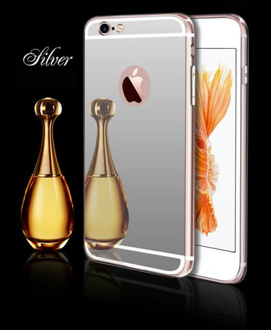 Esamday Luxury Mirror Electroplating Soft Clear Tpu Cases For iPhone 6 6s 5 5s SE 6Plus 6sPlus 7 7Plus Cover Protective cases