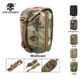 Emersongear Military First Aid Kit Medic Pouch Molle Military Airsoft Paintball Combat Gear EM6368 Multicam AOR Khaki Black