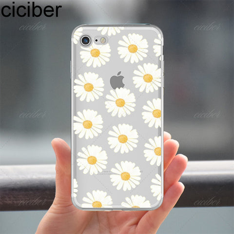 Phone cases Summer Flowers Paisley Mandala Rose Daisy pattern soft case coque fundas capa cover for iPhone 7 7plus 6 5S SE 6plus