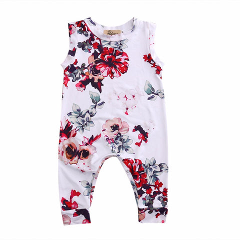 Kid Newborn Summer Clothes Toddler Baby Boy Girl Sleeveless Floral Cotton Romper Outfits Sunsuit
