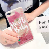 Girls boss Liquid quicksand case For iPhone 7 Phone Cases Dynamic Glitter case For iphone 6 6s 7Plus Capas