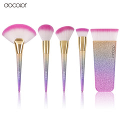 Image of docolor 1pcs Large Fan Brush/Contour / Powder/ Foundation Rainbow  Professional Makeup Brushes