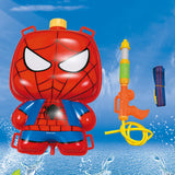 2016 Spider-man Iron man batman backpack water gun large children's water gun toys high pressure range pull-away beach toys