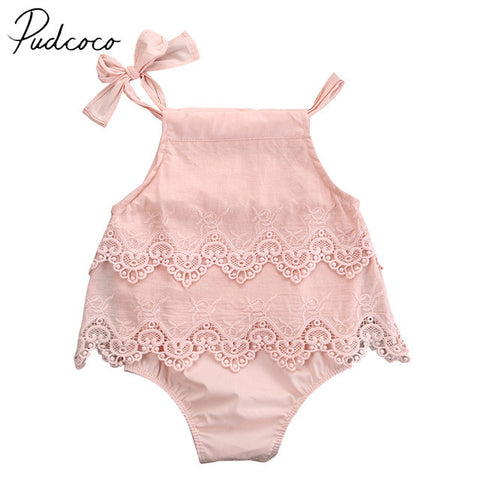 PUDCOCO Brand Cotton Blend Fashion Floral Newborn Baby Girl Bodysuit Jumpsuit Outfit Sunsuit Clothes