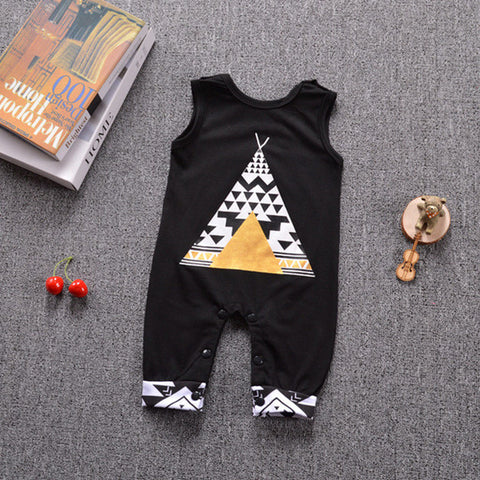 New arrival Newborn Infant Baby Boy Girl Sleeveless tent / fox Cotton Romper Jumpsuit Clothes Outfits
