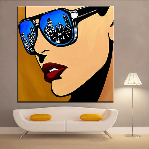 Large size Printing Oil Painting Wall painting urban vision POP Art Wall Art Picture For Living Room painting No Frame