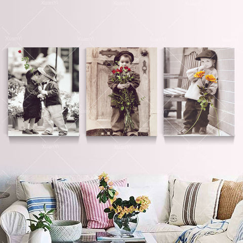 Unframed 3 Panel Wall Art Hanging Picture Canvas Oil Painting by Numbers Fashion Home Decal