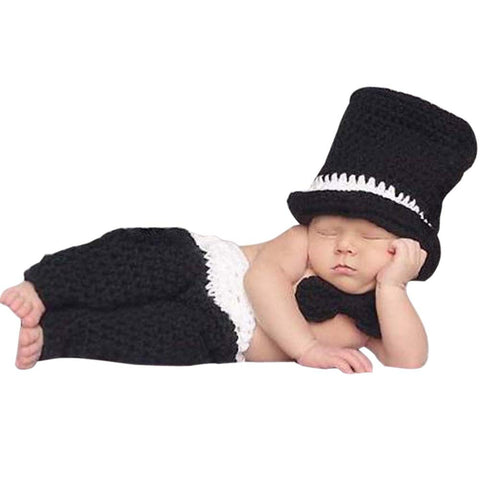 0-4M Newborn Baby Girls Boys Crochet Knit Costume Photo Photography Prop