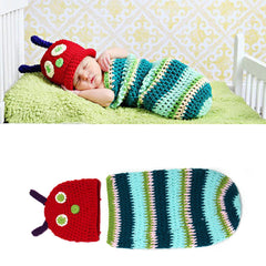 Newborn Baby Cute Crochet Knit Costume Outfits Photo Photography Baby Hat Photo Props New Handmade Cute Small Bees Warm Outfits