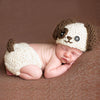 Image of Baby Knitted Photography Prop  Newborn Hats Pants Puppy Dog Costume Baby Infant Dog Crochet Knit Cap Costume Prop