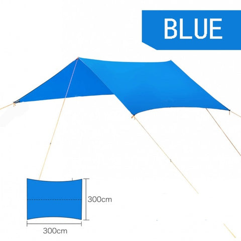 Beach Outdoor Portable Hammock Awning Hanging Tent Wear-resisting Large Multi-functional Mat Folding UV Proof Waterproof