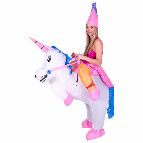 Inflatable Adult Unicorn Costume Outfit Halloween Purim Party For Women & Men!