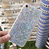 Fashion Bling Shining Powder Sequins Case For iPhone 7 6 6S Plus Phone Soft Silicone Glitter Cover Back For iPhone 6 7 6S Capa