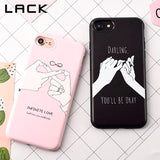 Fashion Funny Letter Case For iphone 7 Case For iphone7 7 PLus Back Cover Cute Cartoon Smile Couples Phone Cases Capa Coque