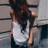 sleeveless  top women summer 2017 sexy tanktop women lace halter top black white