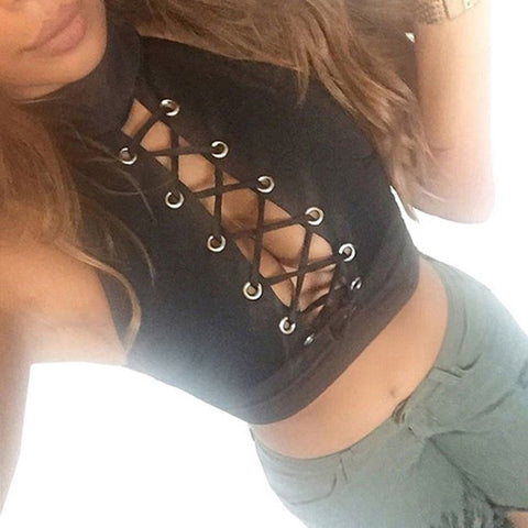 2017 Hot Sale! New Trendy Women Tops Women Cross Strap Blouse Sexy Crop Tops Summer Style Tank Woman Camisole Bandage Beach Tees