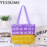 2017 New Women Beach Bags Waterproof Inflatable Purse Candy Color Patchwork Jelly Handbags Quality PVC Tote Large Capacity