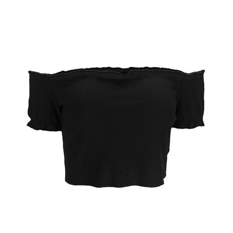 Sexy Off Shoulder Ruffles Ruched 2018 New Tank Tops Crop Top Women Short Tees Casual Streetwear 90s Basic Camis femme
