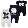 Image of New Born Baby Clothes Summer Sleeveless Roupas Infantis Menino High Quality Cotton Fashion Cool Baby Boy Romper Black Grey 0-2T