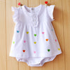 Image of Baby Girl Rompers Summer Girls Clothing Sets Roupas Bebes Flower Newborn Baby Clothes Cute Baby Jumpsuits Infant Girls Clothing