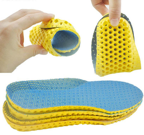 Stretch Breathable Orthopedic Memory Foam Running Cushion Insoles For Feet