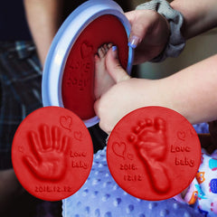 Image of Air Drying Soft Clay Baby Handprint Footprint Imprint Kit Casting Parent - Child Hand Inkpad Fingerprint
