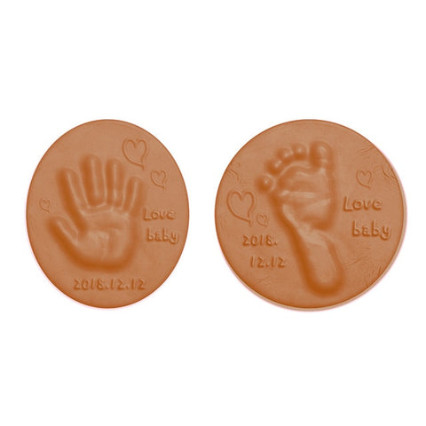 Air Drying Soft Clay Baby Handprint Footprint Imprint Kit Casting Parent - Child Hand Inkpad Fingerprint