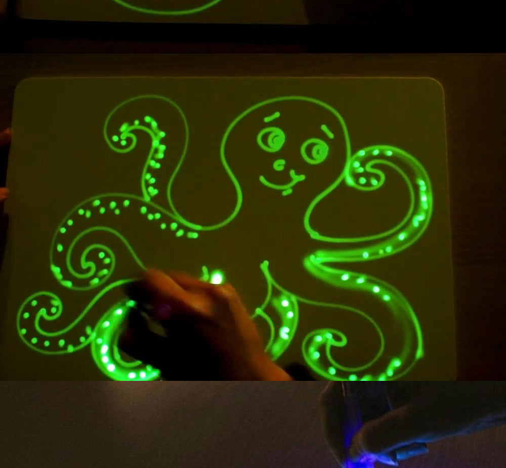 Interactive Children's Draw in the Dark Night Drawing Board Pen ...