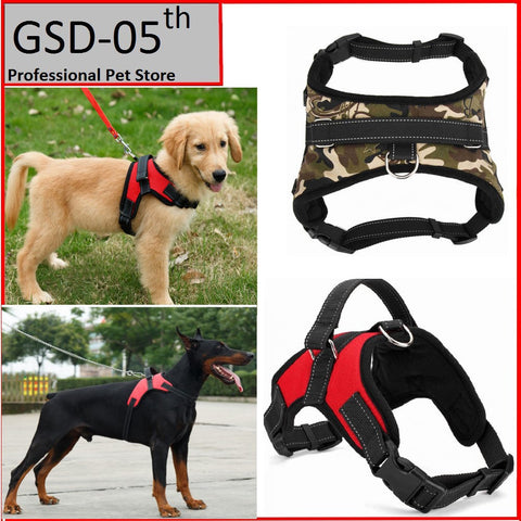 Big Dog Soft Adjustable Harness Pet Large Dog Walk Out Harness Vest Collar Hand Strap for Small and Large Dogs Pitbulls - Dottie D Shopping