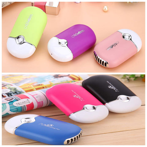 Mini portable hand held desk air conditioner humidification cooler cooling fan - Dottie D Shopping