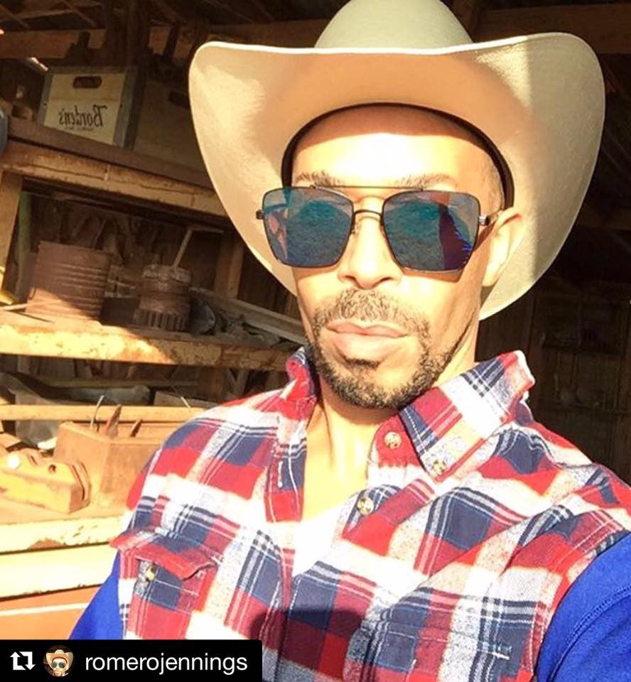 Romero , love your cowboy look !