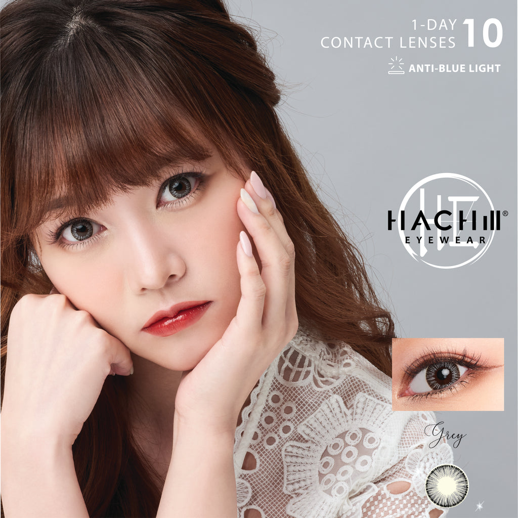 HACHill Daily Contact Lens (with Anti Blue Light (GREY, HACHill Gold, NATURAL, CHOCOLATE))