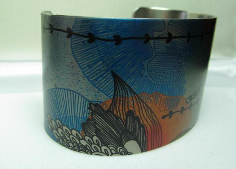 Tattooed Steel Bracelet - Design: Dancers at the bar. By Edgar Degas