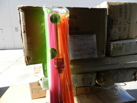 Lot #322: Whistling tube 29 inch. Price includes 144 tubes.