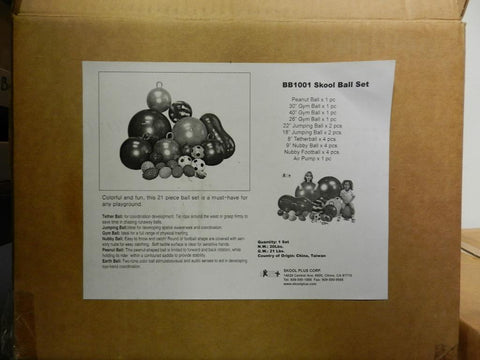 Lot #328: Skool ball set item. 1 set