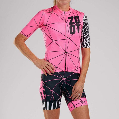 ZOOT WOMEN'S LTD CYCLE AERO JERSEY - NEON RACING