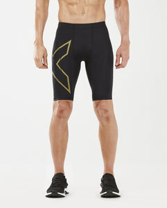 2XU Men's MCS RUN Compression Shorts : MA5331B - Blk/Gold Reflective