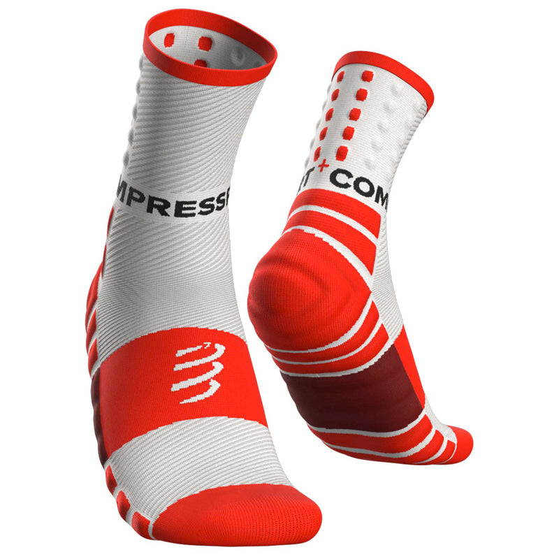 COMPRESSPORT SHOCK ABSORB SOCKS - WHITE