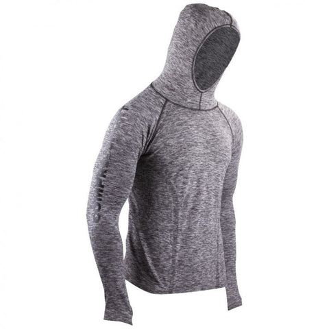 COMPRESSPORT 3D THERMO SEAMLESS HOODIE - GREY MELANGE