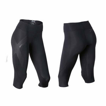 2XU Women's Mid-Rise Compression 3/4 Tights - Black Reflective