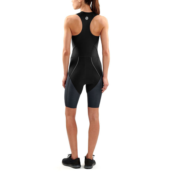 SKINS DNAmic Triathlon Womens Skinsuit With Front Zip - Black