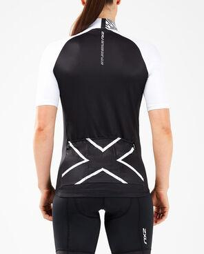 2XU Women's Elite Cycle Jersey-WC5425A (BLK/WHT)