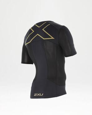 2XU Men's XTRM Compression S/S Top- MR3770 (BLK/GLD)