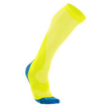 2XU Men's Compression Socks - Filament Yellow Vibrant Blue