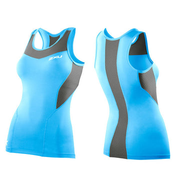 2XU Women's Base Compression Tank Top - Baby Blue