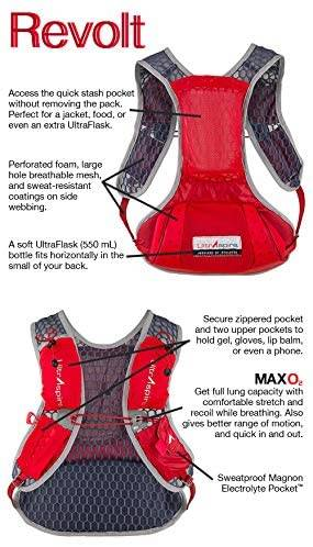 ULTRASPIRE REVOLT RED RUNNING VEST