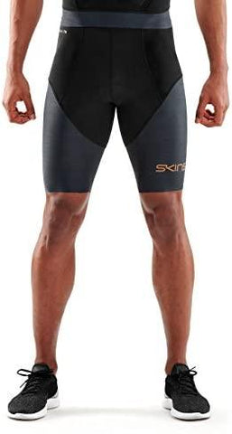 SKINS Men's DNAMIC Triathlon 1/2 Tights - Black/Carbon