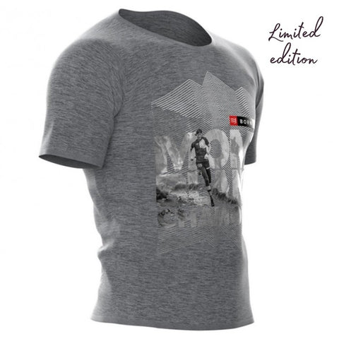 COMPRESSPORT TRAINING TSHIRT SS GREY - MONT BLANC LIMITED EDITION