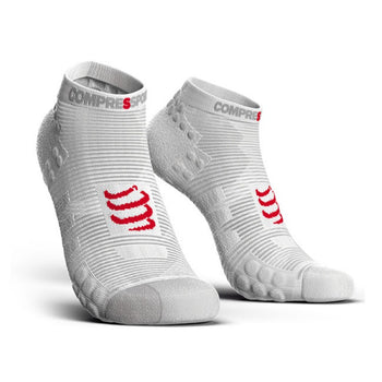 COMPRESSPORT PRO RACING SOCKS V3.0 RUN LOW - SMART WHITE